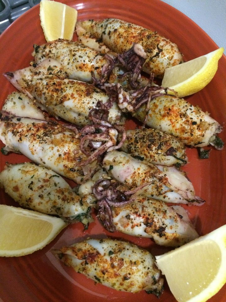 Roasted Stuffed Calamari