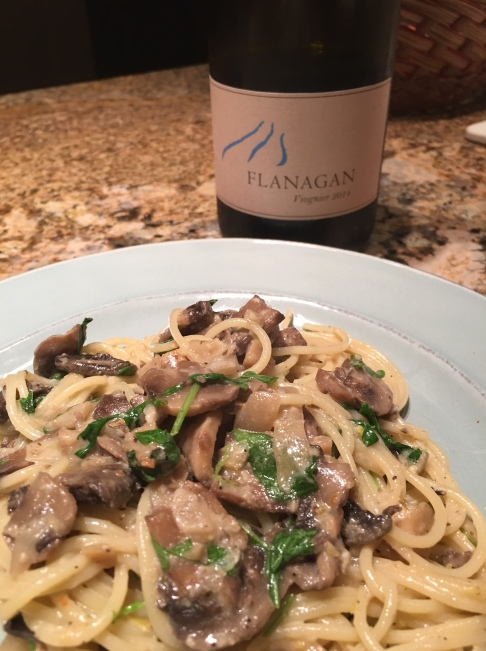 lemon-pasta-and-flanagan-viognier