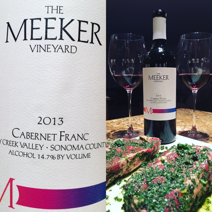 Meeker Cab Franc and Steaks