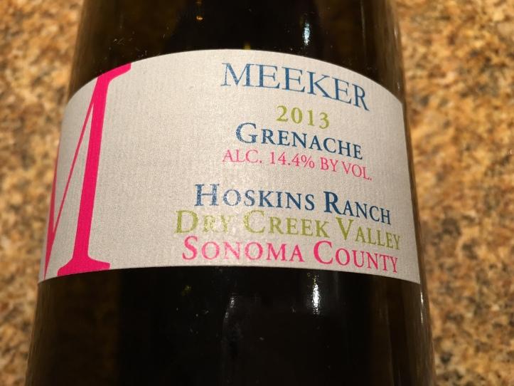 Meeker Grenache Label
