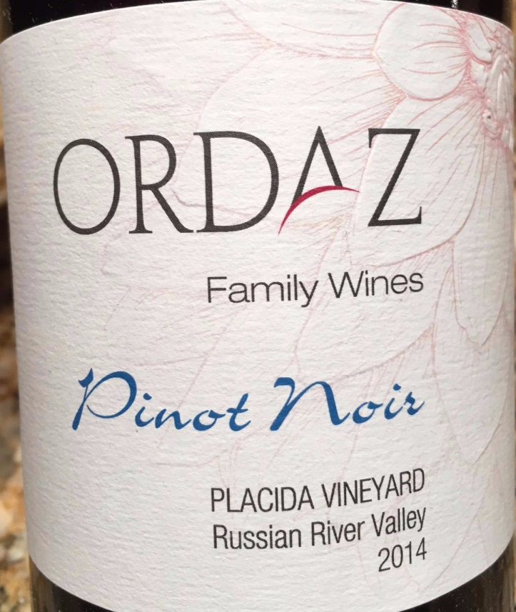 Ordaz Pinot Label