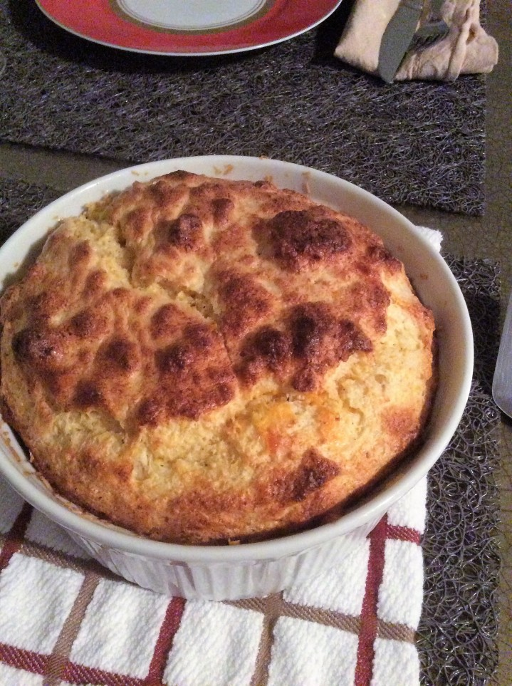 Cheese Souffle with Corn