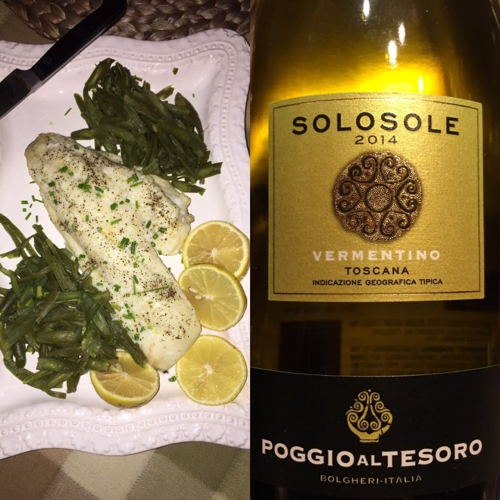Hogfish and Solosole Vermentino