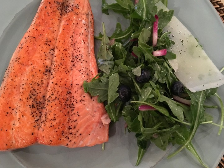Copper River Salmon and Salad