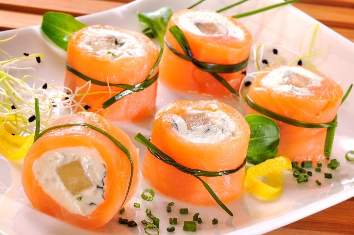 Maki de saumon fumé