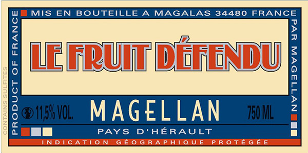 Domaine Magellan Le Fruit Defendu Rose Label