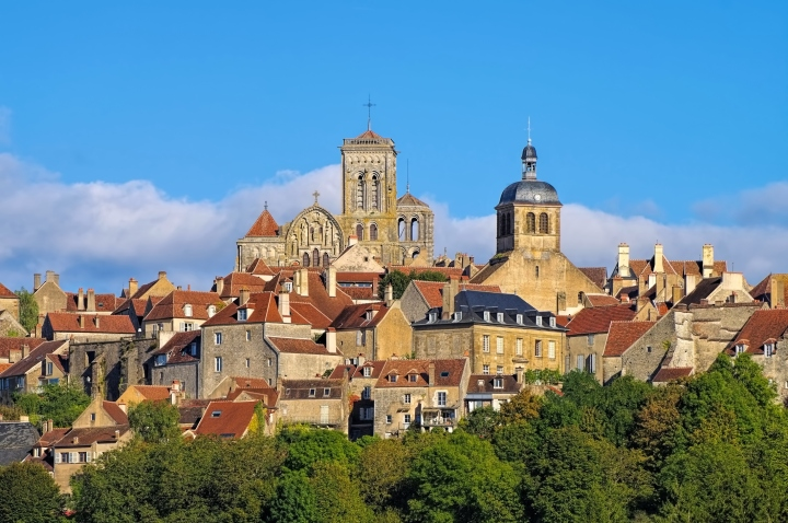 the town Vezelay, Burgundy