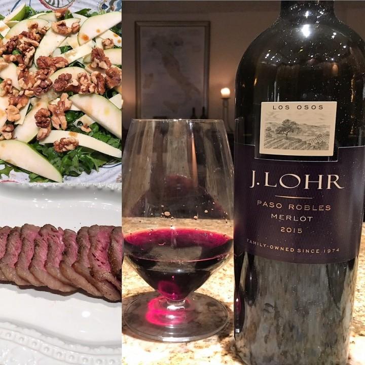 J Lohr Merlot and Dinner