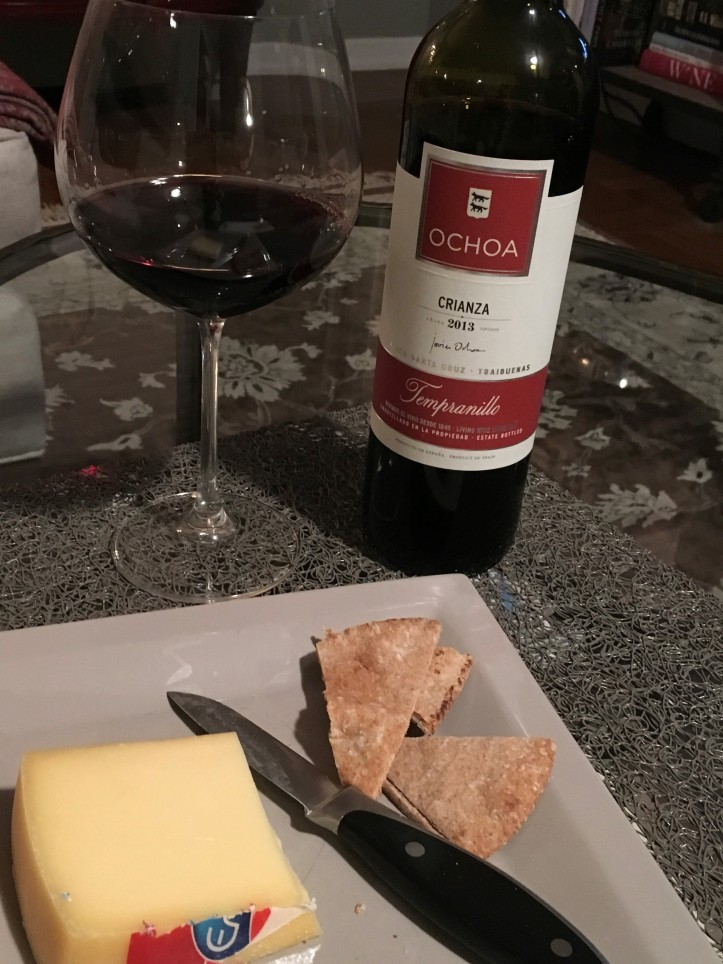 Ochoa Crianza and Cheese