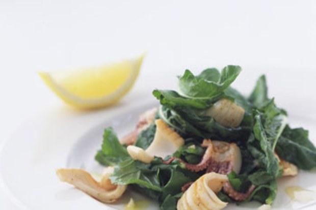 Grilled Calamari with Arugula Epicurious