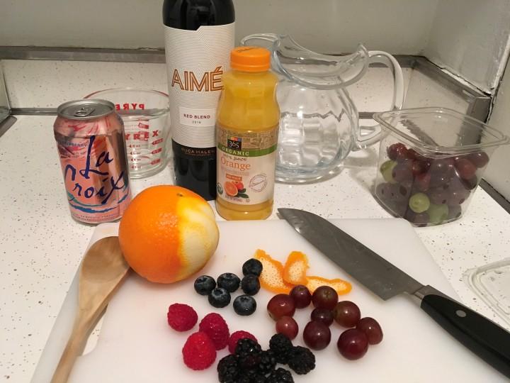 Red Sangria Ingredients