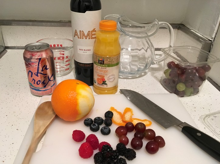 Red Sangria Ingredients