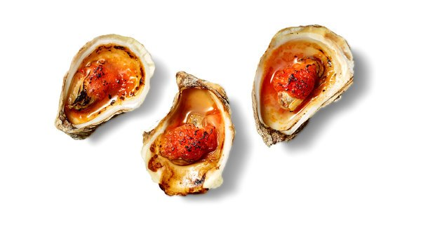 Roast oysters in tomato butter NYT