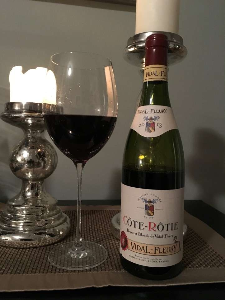 Cote Rotie Bottle and Glass