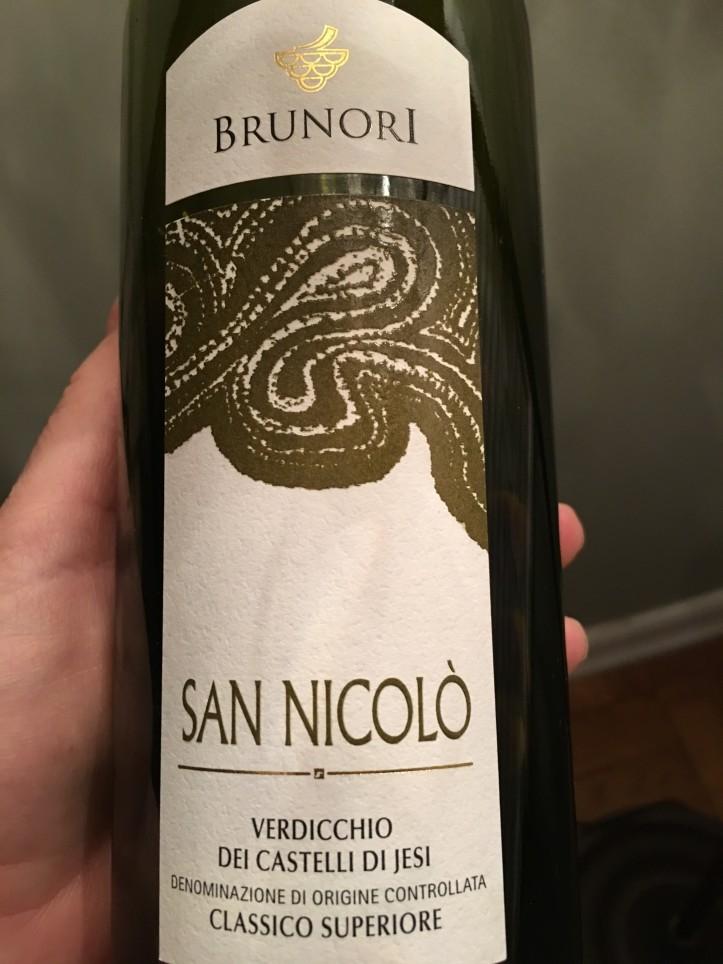 Brunori Verdicchio Label