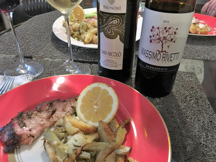 Porchetta Plate with Wine Bottles 2