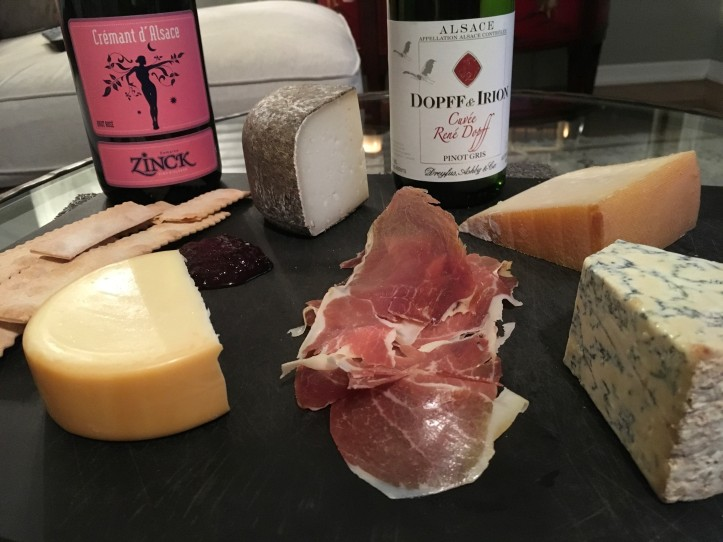 Cheese Platter with PG and Cremant