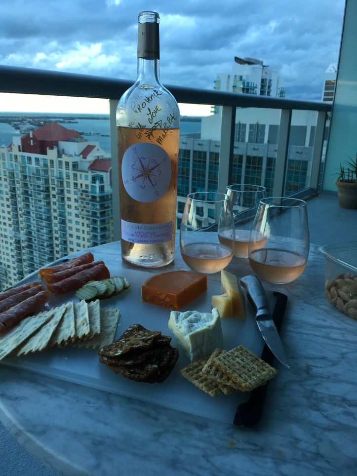 Chapoutier Rose and Snacks