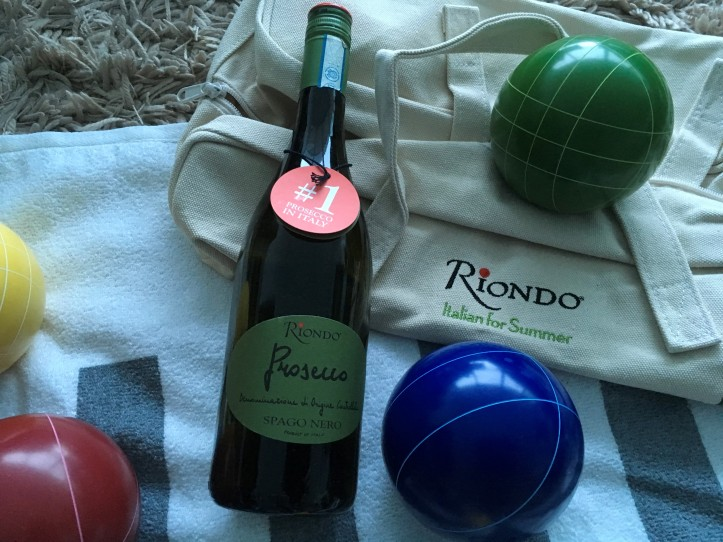 Close Up Bocce and Bottle