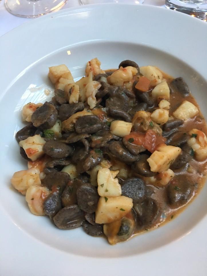 Buckwheat Pasta and Seafood