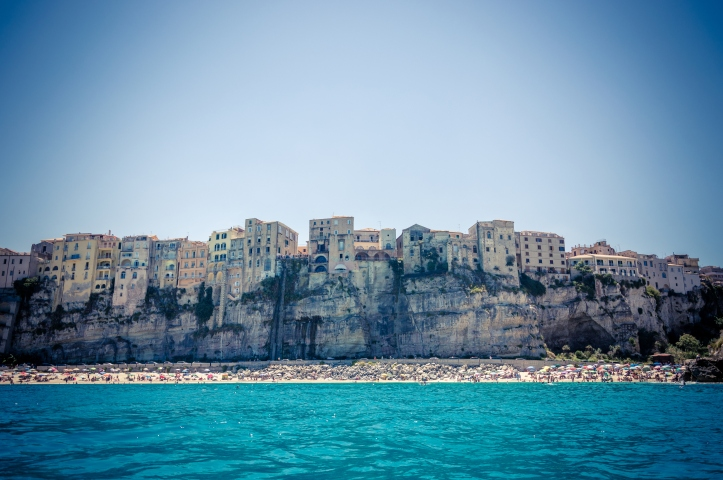 Seacoast near the wonderful village of Tropea in Calabria Italy