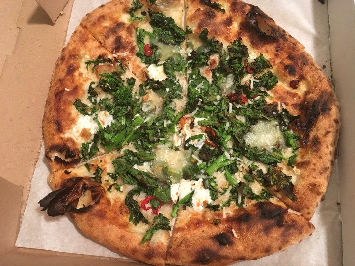 Rapini Pizza with Crescenza Lemon Fresno Chili