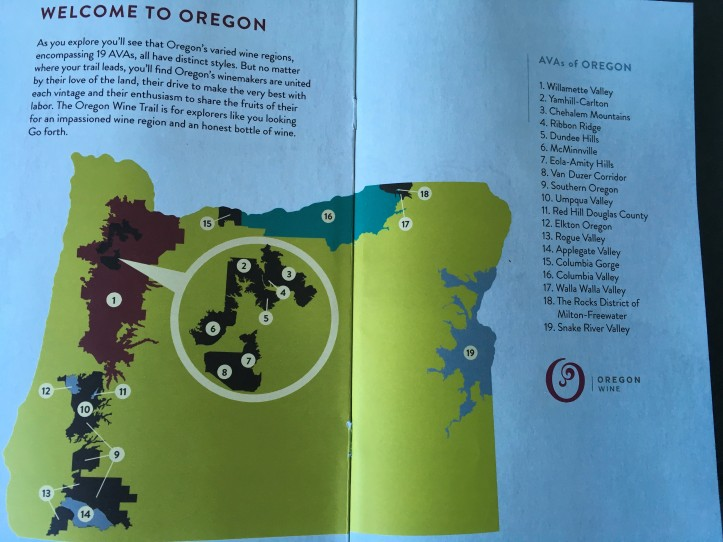 Map of Oregon AVAs