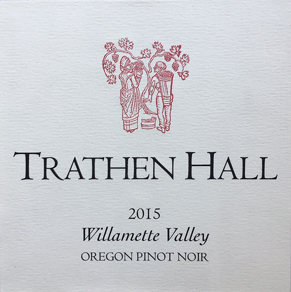 Trathen Hall 2015 Pinot Label website