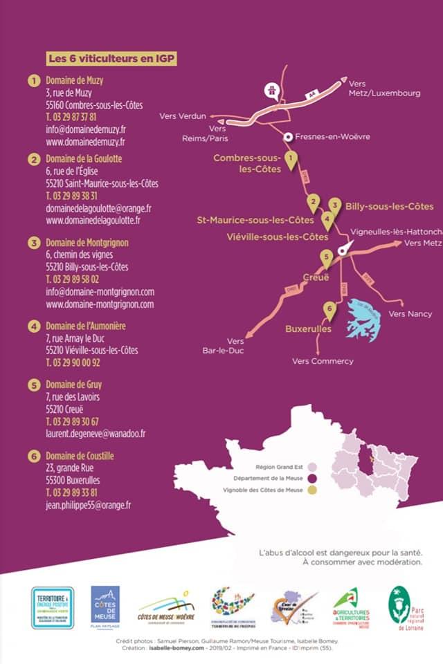 Map Cotes de Meuse