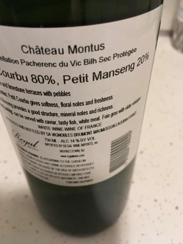 Montus Back Label