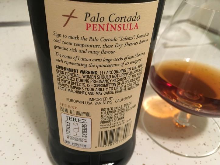 Palo Cortado Back Label