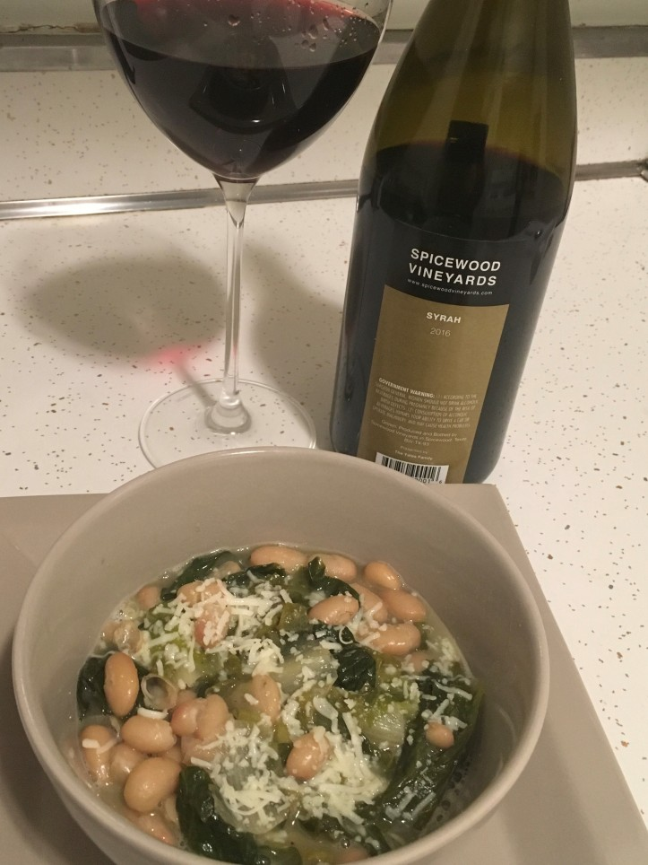 Syrah and Escarole and White Bean Soup