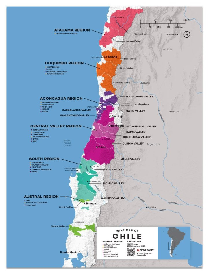 Chile Map Wine Folly