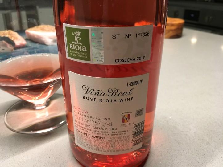 Vina Real Rosado Back Label