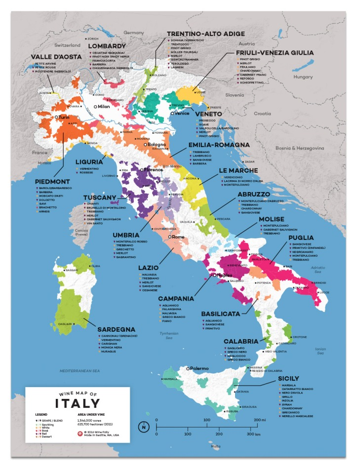 12x16-Italy-All-wine-map2 Wine Folly