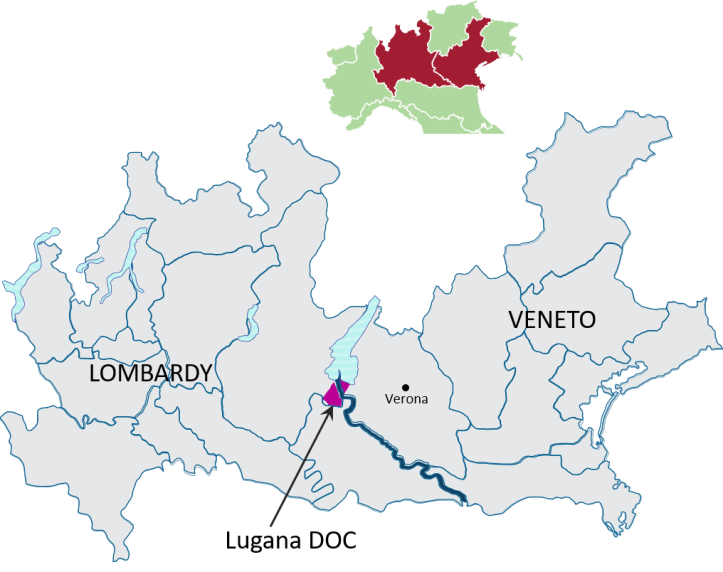 Lugana-map Italian Wine Central